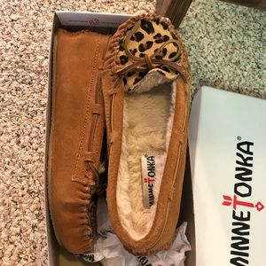 Leopard Moccasins, worn maybe once or twice